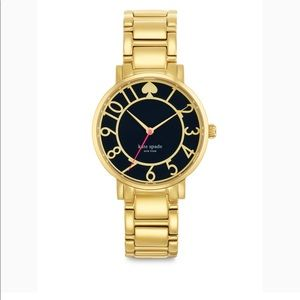 Kate Spade Gold Gramercy Watch with Navy Face